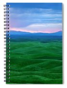 Red Dawn Over The Palouse Spiral Notebook