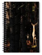 Red Deer In The Woods Spiral Notebook