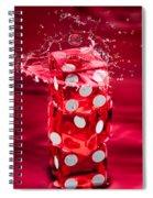 Red Dice Splash Spiral Notebook