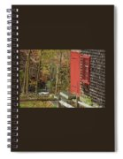 Red Door At The Grist Mill In Fall 2017  Spiral Notebook