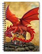 Red Dragon's Treasure Chest Spiral Notebook