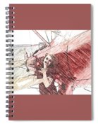 A Red Dress And A  Biplane Spiral Notebook