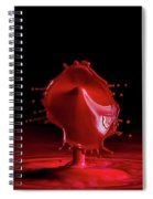 Red Drop Spiral Notebook