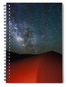 Red Dunes At Night Spiral Notebook