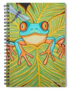 Red Eyed Tree Frog And Dragonfly Spiral Notebook