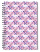 Red Fabric Pattern Spiral Notebook