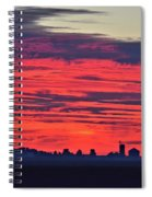 Red Farm Sunrise Spiral Notebook
