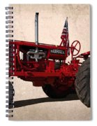 Red Farmall Tractor Spiral Notebook