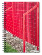 Red Fence Spiral Notebook