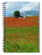 Red Fields Spiral Notebook