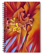 Red Flame Hibiscus Spiral Notebook