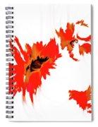 Red Floating Florals Spiral Notebook