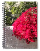 Red Flower Bushes Spiral Notebook