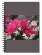 Red Flowered Peach Spiral Notebook