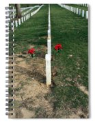 Red Flowers In Arlington Spiral Notebook
