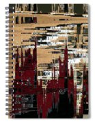 Red Forest Abstract Spiral Notebook