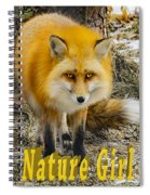 Red Fox Nature Girl Spiral Notebook