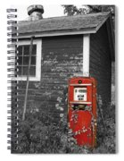 Red Gas Pump Spiral Notebook