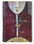 Red Geisha Love 1 Spiral Notebook
