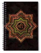 Red Gemstone And Gold  Star Of Lakshmi -  And Sri Spiral Notebook