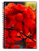 Red Geranium Anniversary Greeting Spiral Notebook