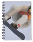 Red Gerard Snowboarding Gold Spiral Notebook