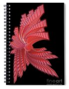 Red Glass Abstract Spiral Notebook