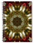 Red Gold Kaleidoscope 1 Spiral Notebook