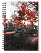 Red Fall Graveyard Spiral Notebook