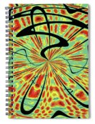 Red Green Yellow And Black Abstract Spiral Notebook