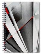 Red-grey Abstractum Spiral Notebook