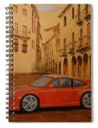 Red Gt3 Porsche Spiral Notebook
