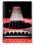 Red Guitar 16 Spiral Notebook