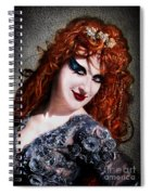Red Hair, Gothic Mood. Model Sofia Metal Queen Spiral Notebook