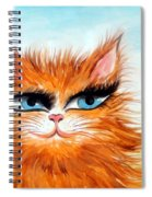 Red-haired Sofia The Cat Spiral Notebook