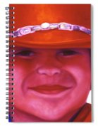 Red Hat Girl Spiral Notebook
