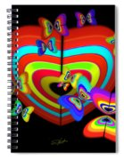 Red Heart Spiral Notebook