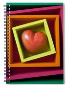 Red Heart In Box Spiral Notebook