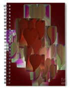 Red Hearts Spiral Notebook