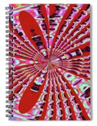 Red Heavy Screen Abstract Spiral Notebook
