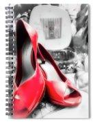 Red High Heels Spiral Notebook