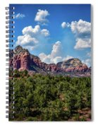 Red Hills And Green Tress Spiral Notebook
