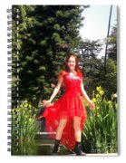 Red Hot - Ameynra Fashion By Sofia Metal Queen. Spiral Notebook