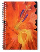 Red-hot Flower Spiral Notebook