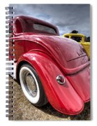 Red Hot Rod - 1930s Ford Coupe Spiral Notebook