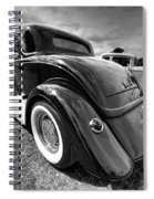 Red Hot Rod In Black And White Spiral Notebook