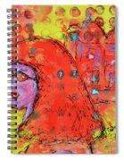 Red Hot Summer Girl Spiral Notebook