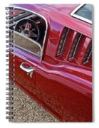 Red Hot Vents - Classic Fastback Mustang Spiral Notebook