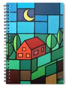 Red House Amidst The Greenery Spiral Notebook