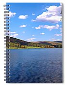 Red House Lake Allegany State Park Expressionistic Effect Spiral Notebook
